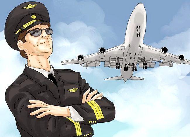 Prent getiteld `n Airline Pilot Stap 11 word