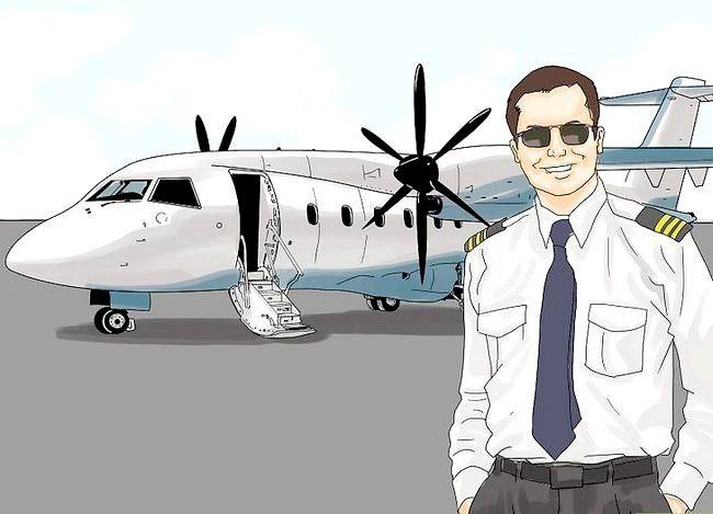 Prent getiteld `n Airline Pilot Stap 7 word