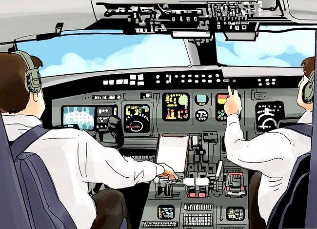 Prent getiteld Word `n lugvaartvliegtuig Stap 10