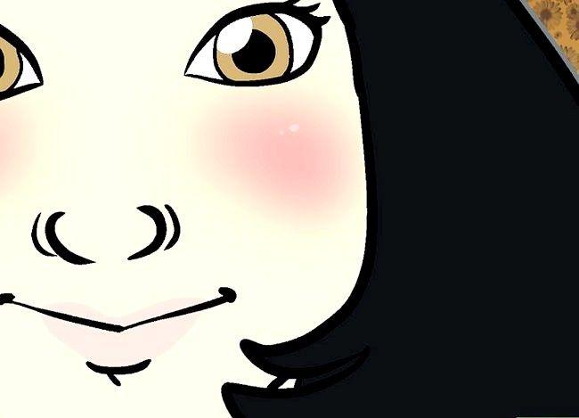Prent getiteld `n Mori Girl (Forest Girl) Stap 5