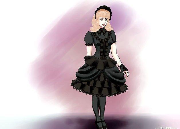 Prent getiteld `n Gotiese Lolita Stap 6