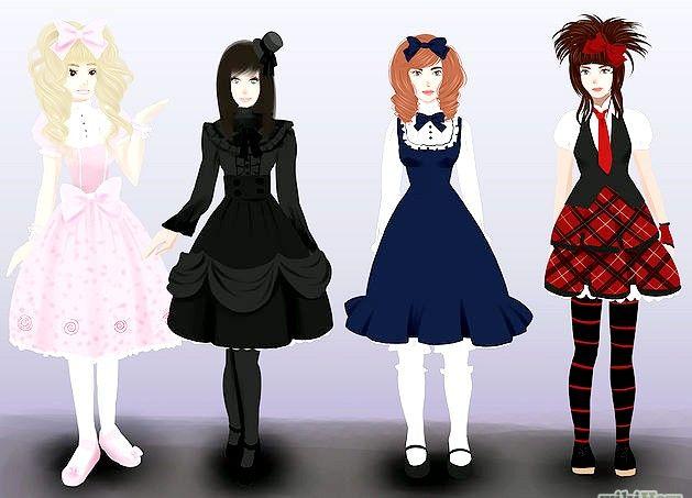 Prent getiteld Wees `n Gotiese Lolita Stap 2