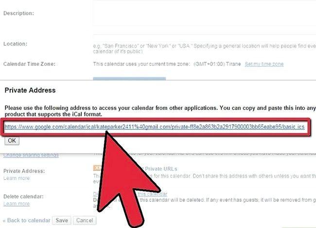 Prent getiteld Synchroniseer Google Kalender met Outlook Stap 5