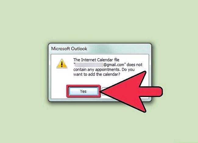 Prent getiteld Synchroniseer Google Kalender met Outlook Stap 6