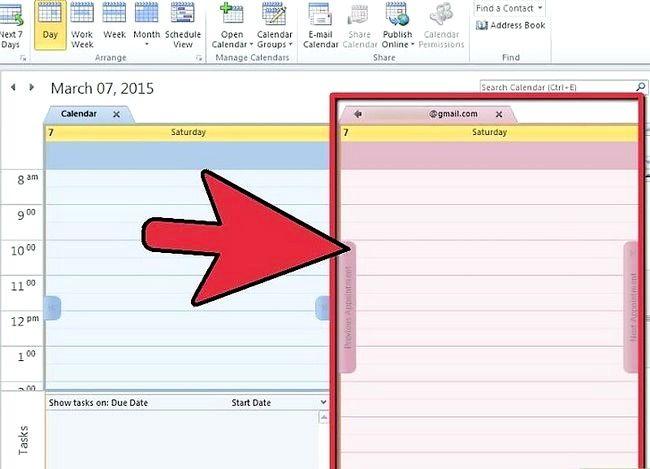 Prent getiteld Synchroniseer Google Kalender met Outlook Stap 7