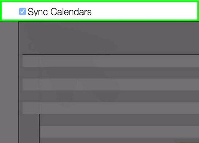 Prent getiteld Synchroniseer Outlook Kalender met iPhone Stap 4