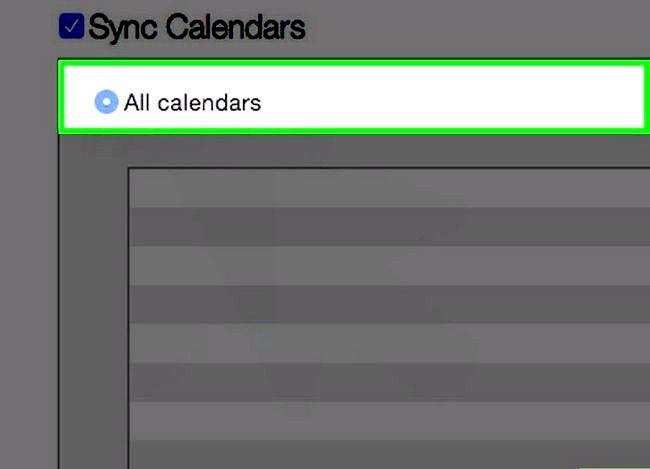 Prent getiteld Synchroniseer Outlook Kalender met iPhone Stap 5