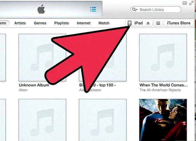 Prent getiteld Synchroniseer musiek na `n iPad Stap 1