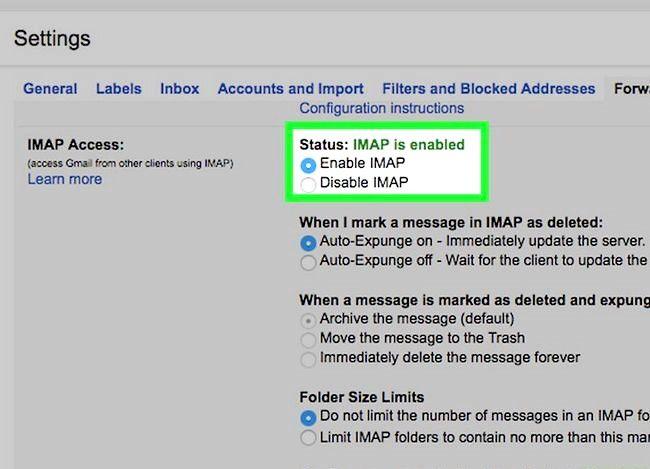 Prent getiteld Sync Outlook Met Gmail Stap 20