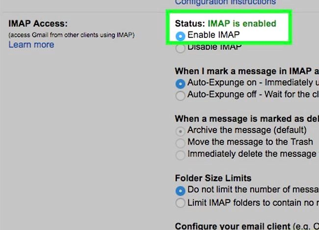 Prent getiteld Sync Outlook met Gmail Stap 5