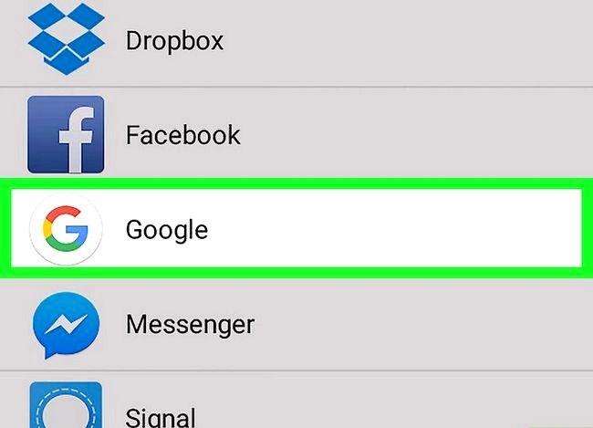 Prent getiteld Sync Android-kontakte met Gmail Stap 3
