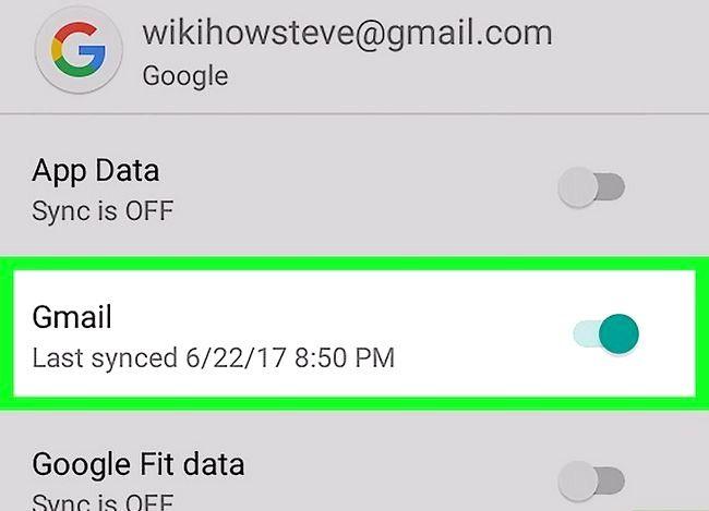 Prent getiteld Sync Android Kontakte Met Gmail Stap 4