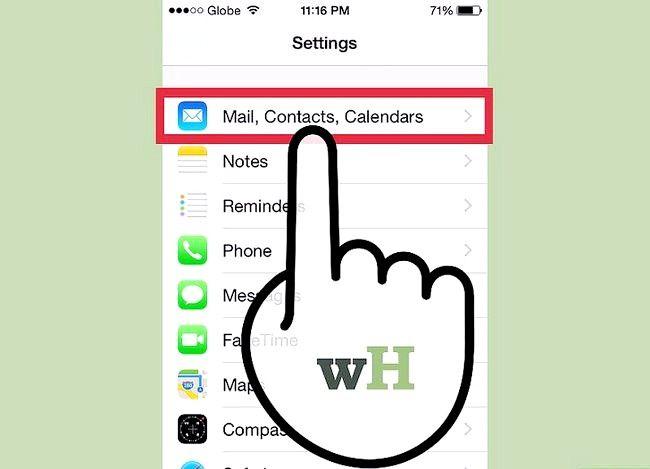 Prent getiteld `n Hotmail-rekening op `n iPhone Stap 2 Sinkroniseer