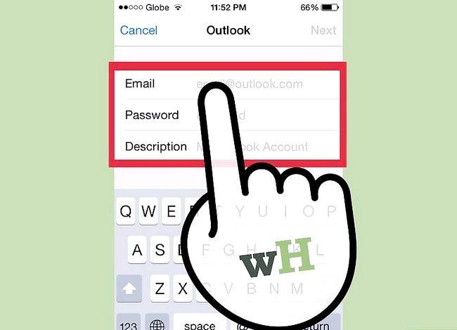 Prent getiteld `n Hotmail-rekening Sink op `n iPhone Stap 5