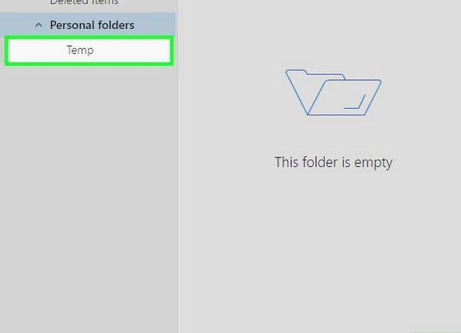 Beeld getiteld Fix Error 0x800c0133 in Outlook Stap 3