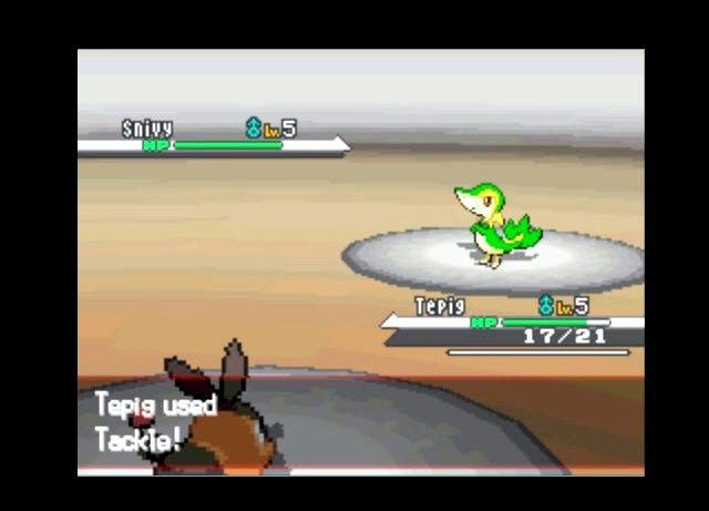 Prent getiteld Boontoe Pokemon in Pokemon Swart en Wit Stap 1