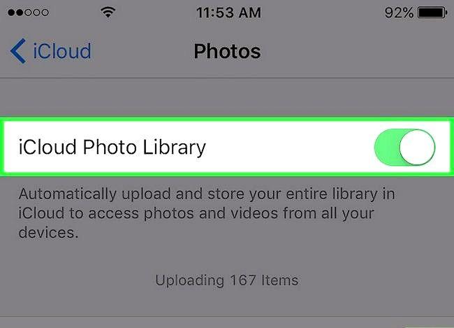Prent getiteld Laai nuwe iPhone foto`s op na iCloud. Stap 5 outomaties