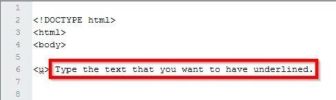 Prent getiteld Onderstreep teks in HTML Stap 4
