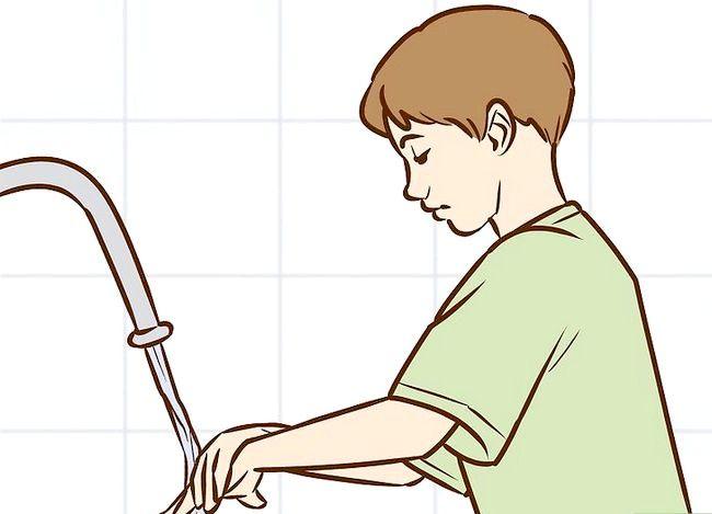 Prent getiteld Het goeie higiëne (seuns) Stap 8