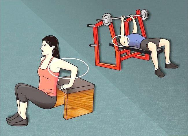 Hoe om groter triceps te hê
