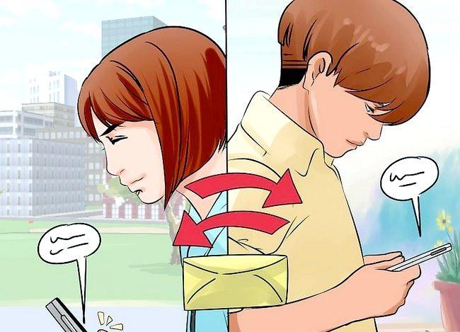 Prent getiteld Begin `n teks gesprek met `n meisie stap 6