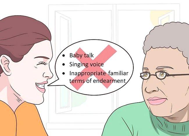 Prent getiteld `n gesprek met `n bejaarde persoon hê. Stap 13