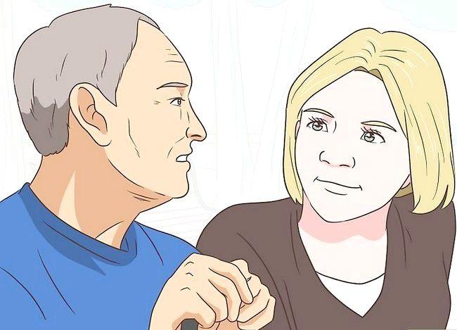 Prent getiteld `n gesprek met `n bejaarde persoon Stap 14