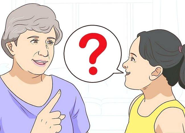 Prent getiteld `n gesprek met `n bejaarde persoon het. Stap 2