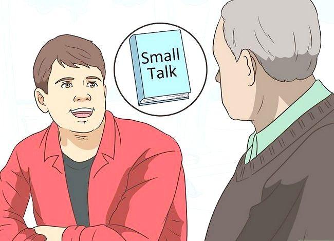 Prent getiteld `n gesprek met `n bejaarde persoon hê Stap 3