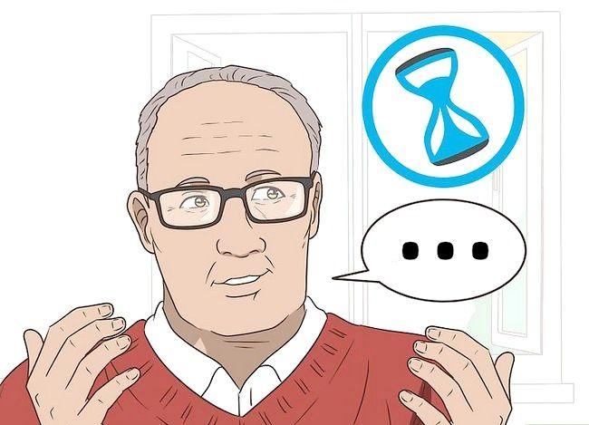 Prent getiteld `n gesprek met `n bejaarde persoon hê. Stap 10