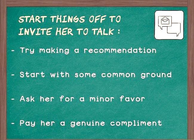 Prent getiteld Hou die gesprek wat met `n meisie vloei (Stap 1)