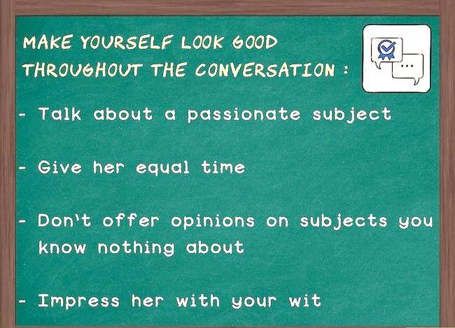 Prent getiteld Hou die gesprek vloei met `n meisie (vir ouens) Stap 3