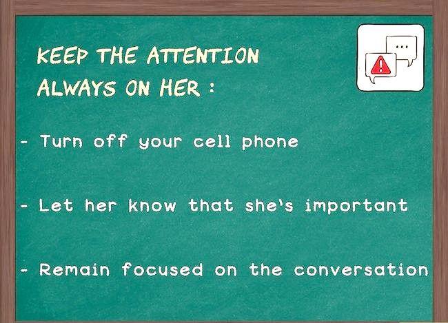 Prent getiteld Hou die gesprek vloei met `n meisie (vir ouens) Stap 7