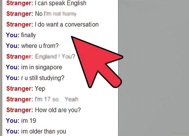 Prent getiteld `n Werklike gesprek op Omegle Stap 5