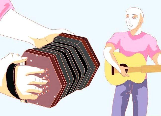Prent getiteld Speel die Concertina Stap 8