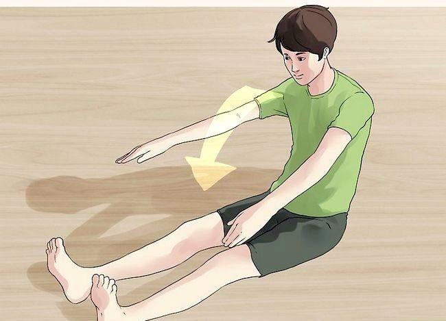 Prent getiteld Maak jou voete raak jou kop Stap 2