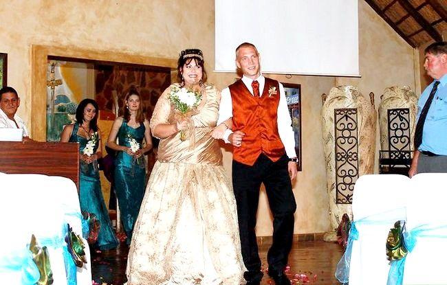 Prent getiteld `n Wedding Step 3