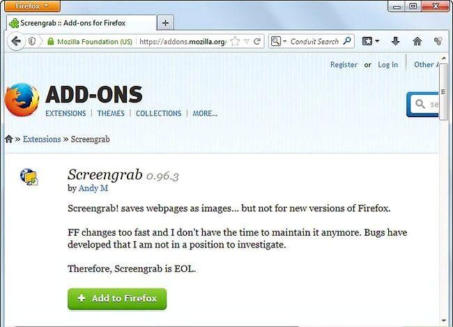 Prent titel Get Screenshots Gebruik die Firefox Screengrab Plugin Stap 1