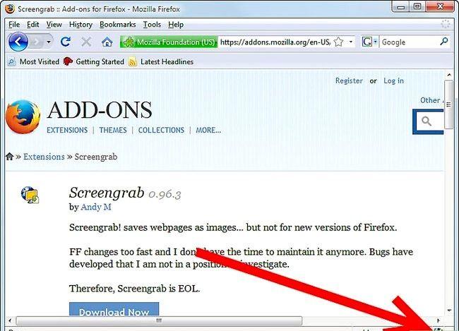 Prent titel Get Screenshots Gebruik die Firefox Screengrab Plugin Stap 4