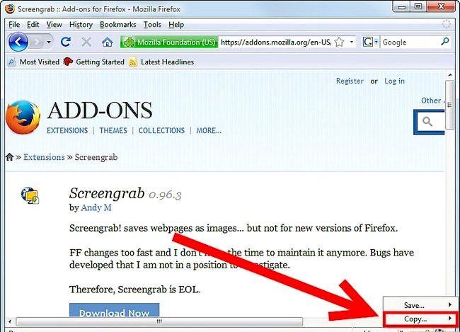 Prent titel Get Screenshots Gebruik die Firefox Screengrab Plugin Stap 5