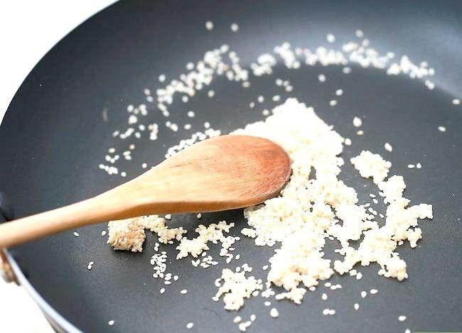 Prent getiteld Toast Sesame Seeds Stap 6