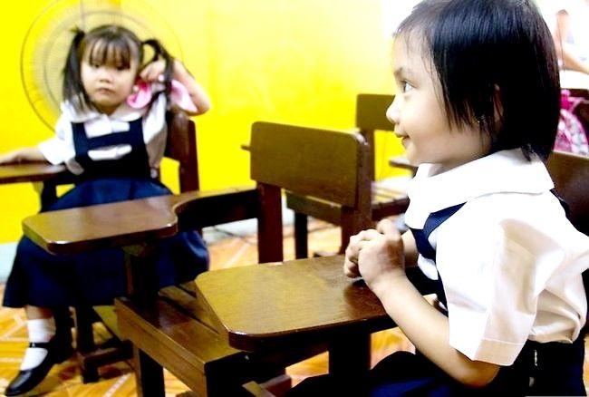 Prent getiteld Werk met Shy Kinders Stap 7