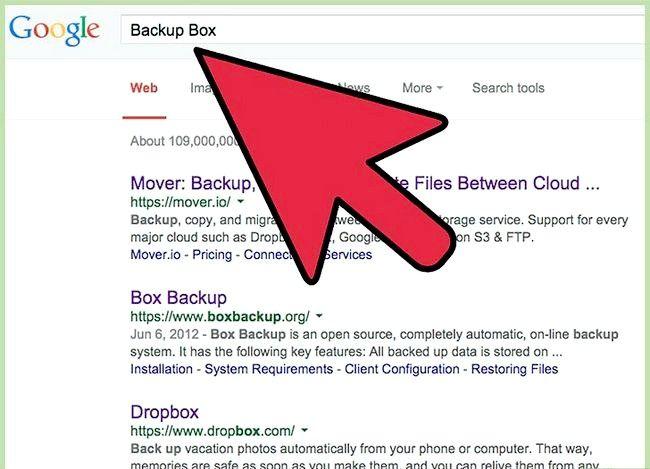 Prent getiteld Oordrag lêers tussen FTP en Dropbox met behulp van Backup Box Stap 1