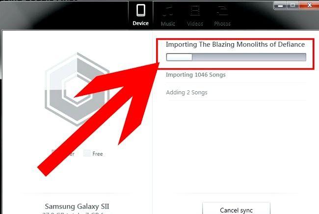 Prent getiteld Oordragmusiek van iTunes na Android Stap 18
