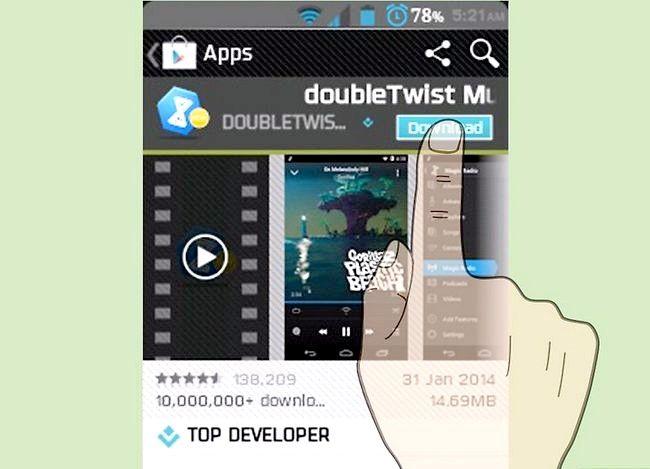 Prent getiteld Oordragmusiek van iTunes na Android Stap 22