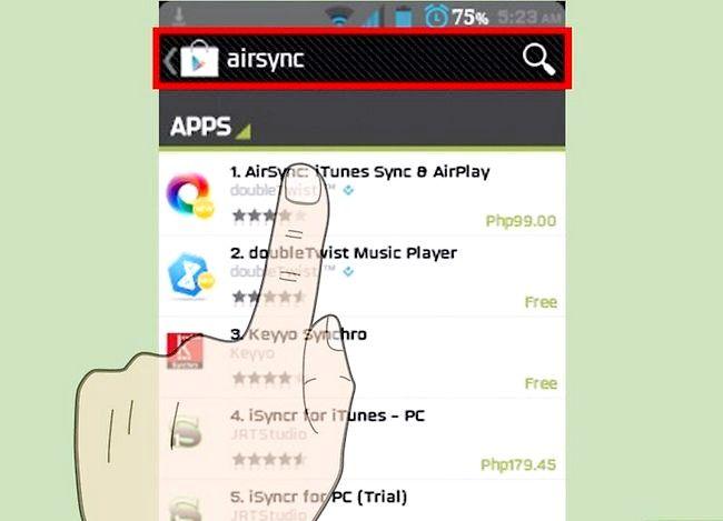 Prent getiteld Oordragmusiek vanaf iTunes na Android Stap 23
