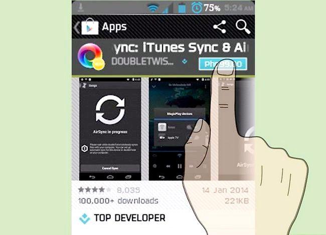 Prent getiteld Oordragmusiek van iTunes na Android Stap 24