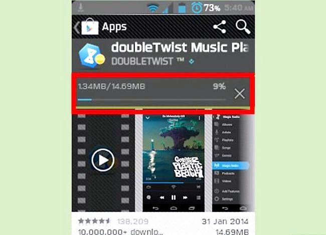 Prent getiteld Oordragmusiek vanaf iTunes na Android Stap 25