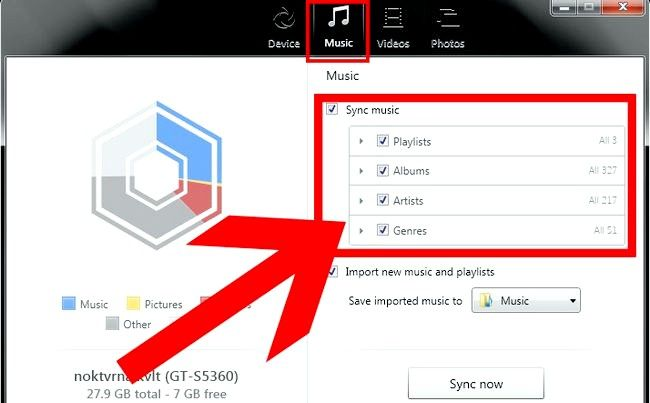 Prent getiteld Oordragmusiek van iTunes na Android Stap 35