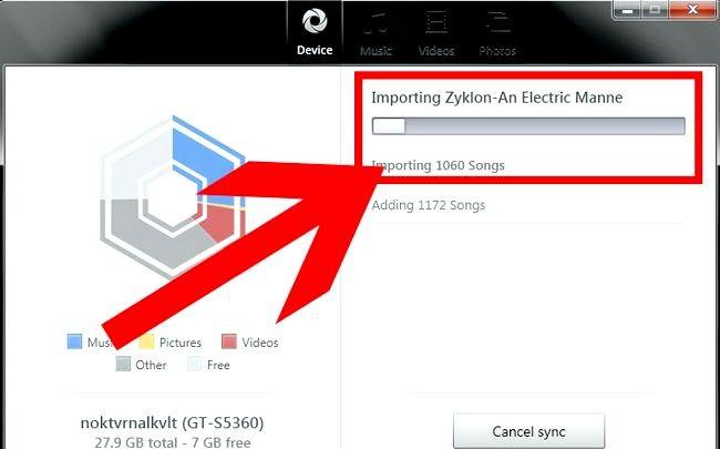 Prent getiteld Oordragmusiek van iTunes na Android Stap 36